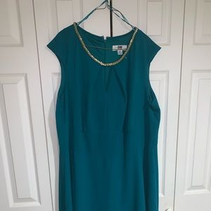 Dresses & Skirts - Teal and Gold cocktail dress